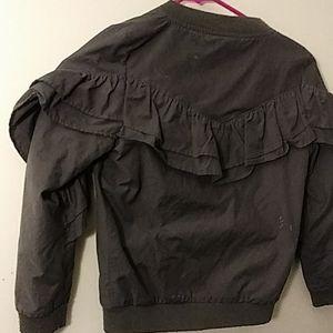 Cat & Jack Jackets & Coats - Girl's Ruffle Dark Gray Jacket